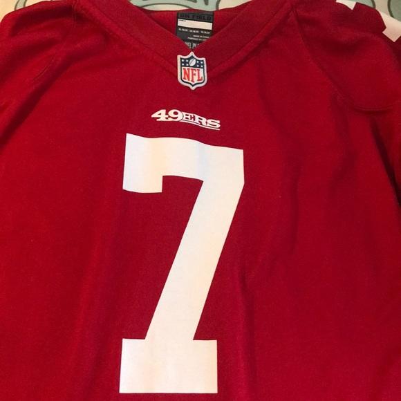 low priced b7dd1 7498f 49ers number 7 Kaepernick Jersey shirt